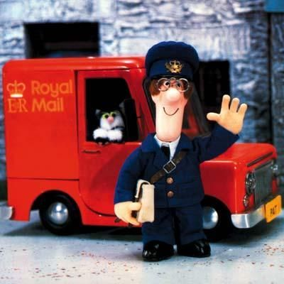 Postman Pat and his black-and-white cat. I love this show, and right now I'm watching an episode with my little nephew ^^