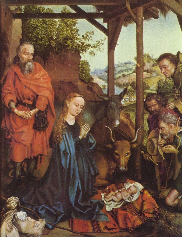 Adoration of the Shepherds - Martin Schongauer