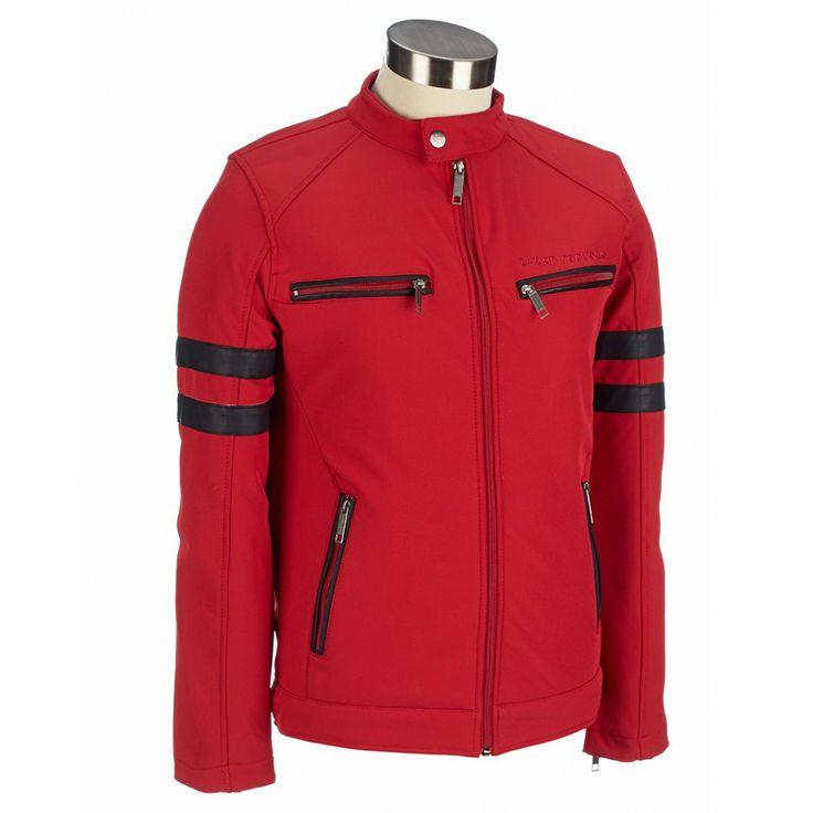 Burlington Coat Factory: Stand Collar Motorcycle Jacket. Also in Cobalt Blue.  Type 4