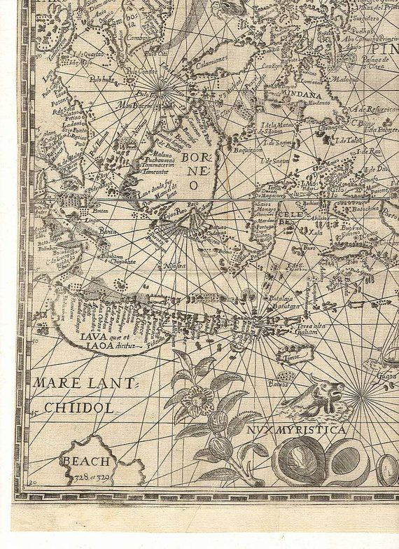 Map, World map, Spice Islands, Borneo, Antique world maps, Old World