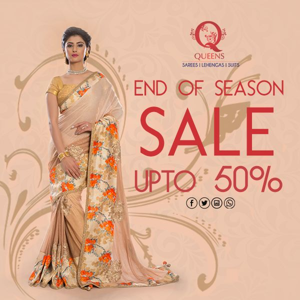 #SaleAlert: It's finally here! We're back with our End Of Season Sale. It's time to get your hands on the best #EthnicWear of the season! Head to our store today!