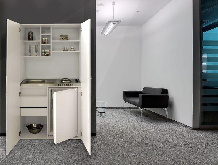 respekta Single Büroküche Pantry Küche Miniküche Schrankküche weiß ... | {Schrankküche 16}