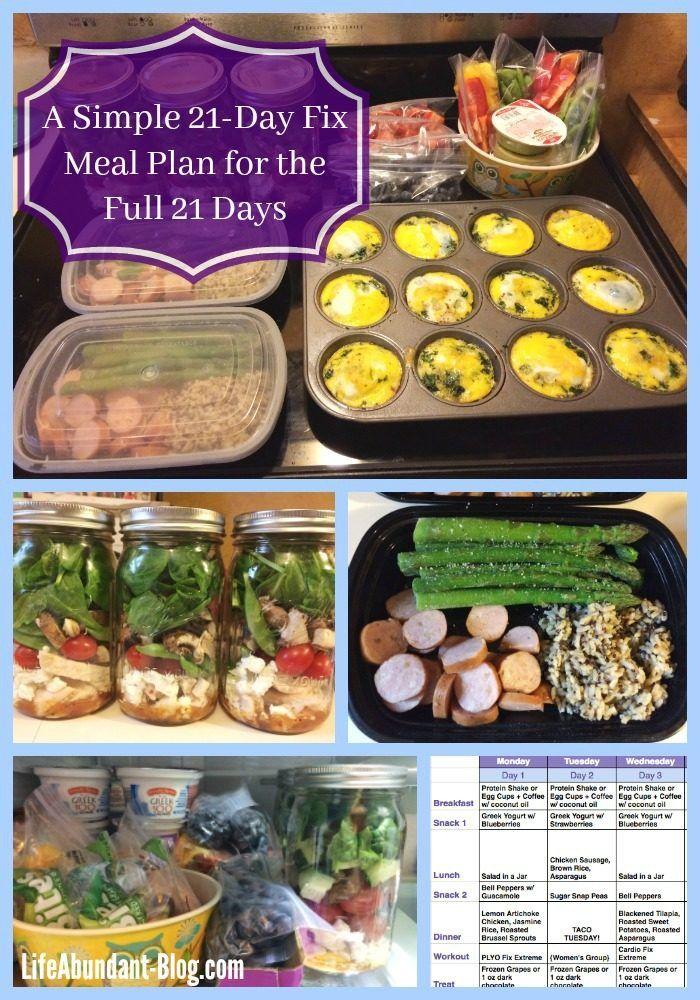 Life Abundant Blog | A Simple 21-Day Fix Meal Plan for the Full 21 Days | http://lifeabundant-blog.com