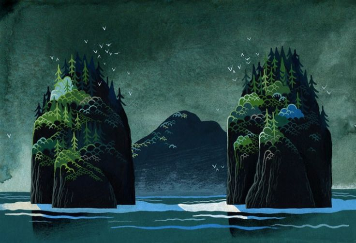 Yvan Duque Illustrates A Series of Mysterious Islands