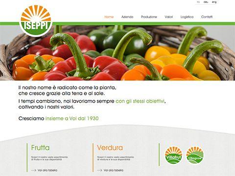 Sito web Iseppi Frutta, Campascio - Dornach