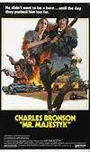 Mr. Majestyk (1974). [PG] 103 mins. Starring: Charles Bronson, Al Lettieri, Linda Cristal, Lee Purcell, Paul Koslo and Alejandro Rey