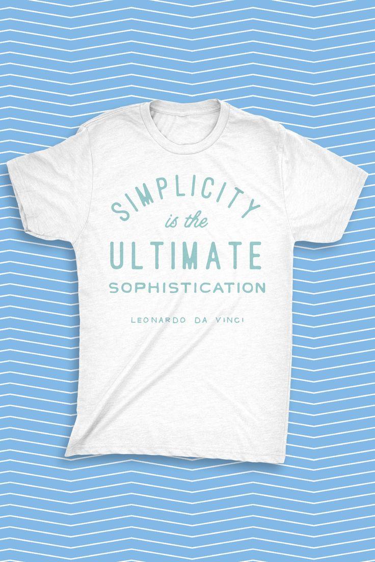 """Simplicity is the ultimate sophistication"" - Leonardo da Vinci   #madewithover"