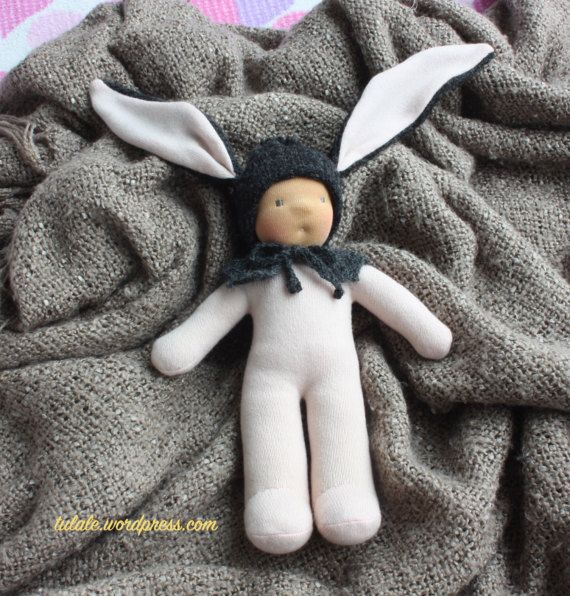 OOAK 12 inch Aron Wee baby hare by Tulale waldorf inspired #waldorftoys #naturaltoys #handmadedoll #doll