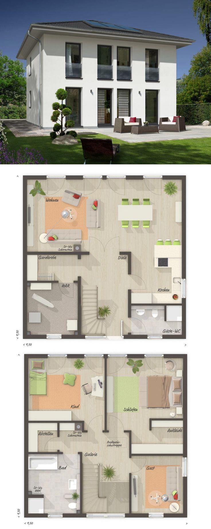 Stadtvilla modern mit Zeltdach Architektur & 4 Zim…