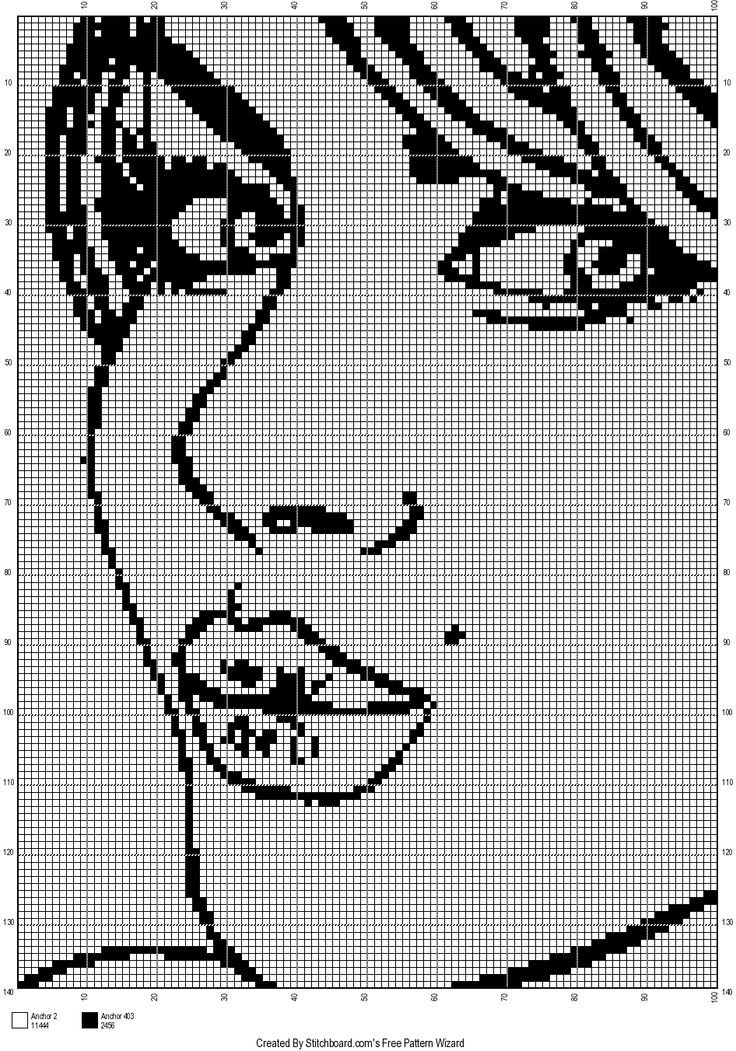 Lady pop art x-stitch