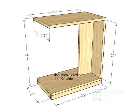rolling sofa table