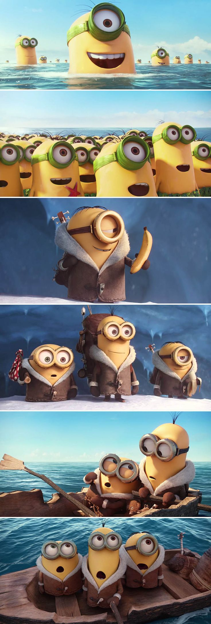 The #Minions are getting their own movie and the first trailer is out! Hahahaha! Looks awesome! See Stuart, Kevin, and Bob embarking on an epic journey 42 years before they met Gru. Watch it here: http://www.creation.com.es/minions-official-trailer-1/