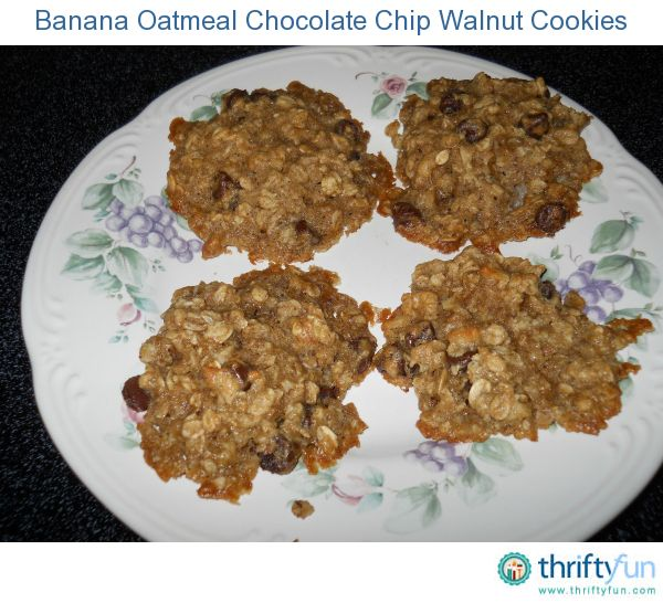 I wanted to make something other than just another loaf of banana bread with my overripe bananas. I took the original Quaker oatmeal cookie recipe and merged it with a couple of banana oatmeal cookie recipes on the internet and this is the result. Enjoy.