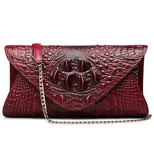 fb45c115df63 ZOOLER Genuine Leather Purse Clutch Crossbody Bag Crocodile ...