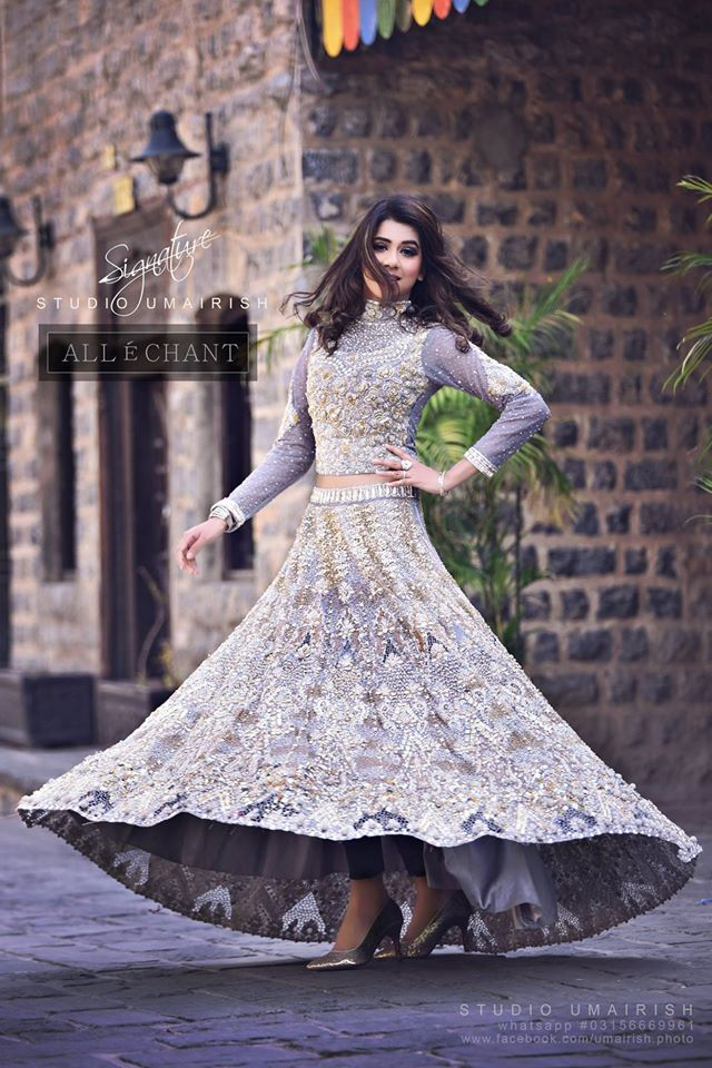 Allechant Fancy Crop Top With Lehnga for Wedding Party