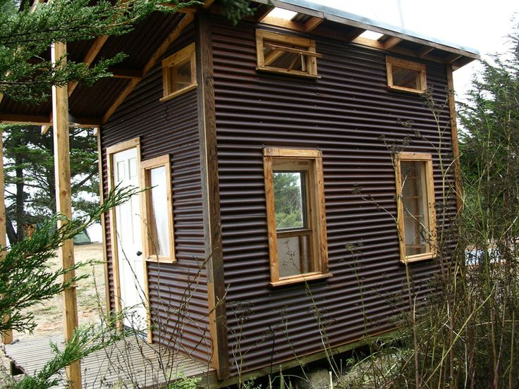 25 best ideas about mini cabins on pinterest - Corrugated iron home designs ...