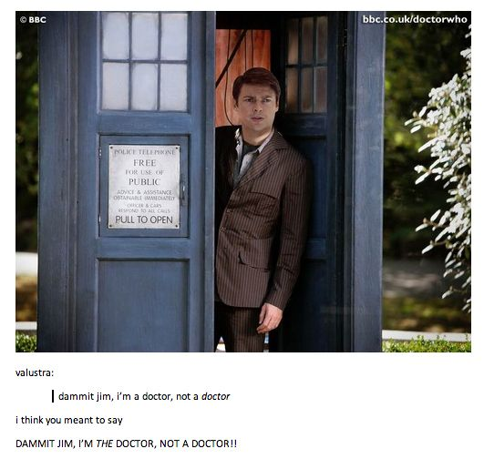 Damnit Jim, I'm The Doctor, not a doctor! | 34 Amazing Crossovers You Wish Were Real