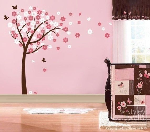 Children Wall decal Cherry Blossom Tree Wall Decal by styleywalls, $89.00