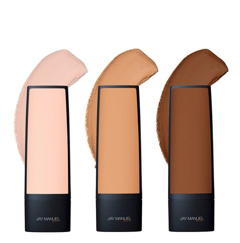 Jay Manuel Foundation | Works well as a tinted moisturizer | 12 shades. I LOVE THIS FOUNDATION! Works well for women of color.