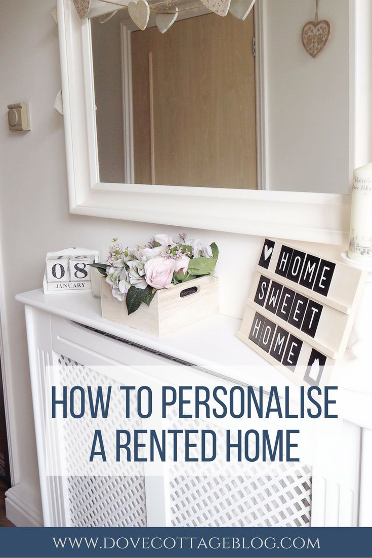 Personalising a rented home