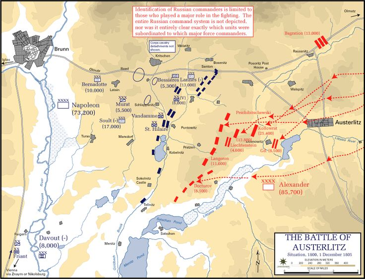 Battle of Austerlitz, Situation at 1800, 1 December 1805 - Battle of Austerlitz - Wikipedia, the free encyclopedia
