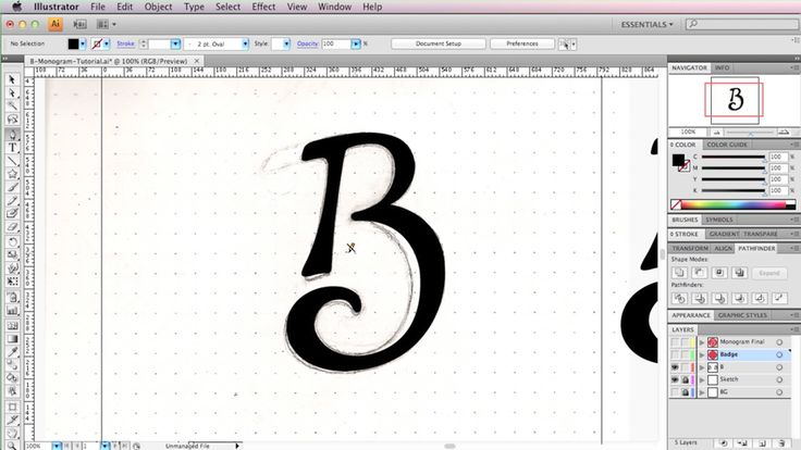 How To Create a Monogram Style Logo In Illustrator – Brent Galloway / Freelance Graphic Designer
