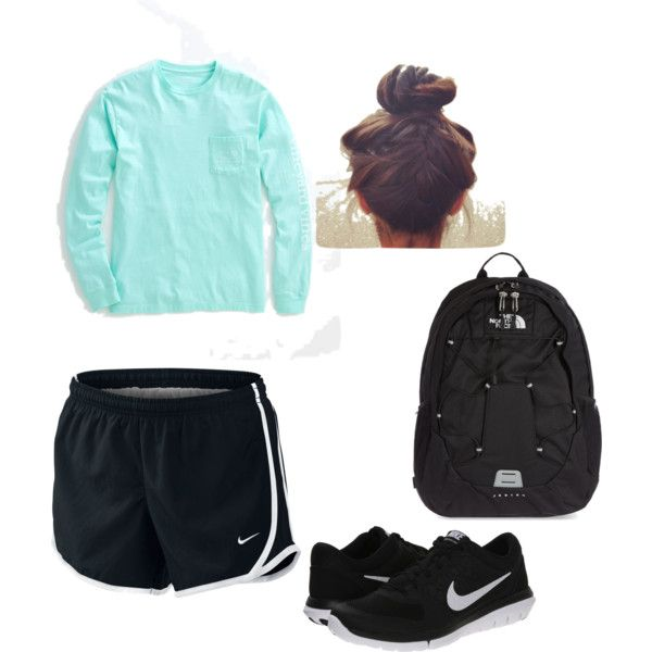 Perfect for final weeks of school or a workout at the Gym... Finals week by alana-mae-chesebro on Polyvore featuring polyvore, fashion, style, Vineyard Vines, NIKE and The North Face