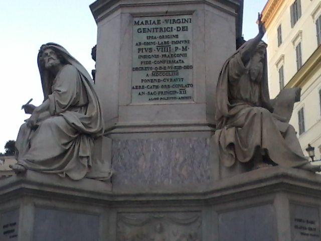 Base de la columna de la Inmaculada Concepciòn Roma (piazza spagna)