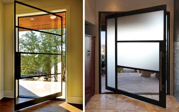 Want This Door For The Home Doors Pivot Doors Steel