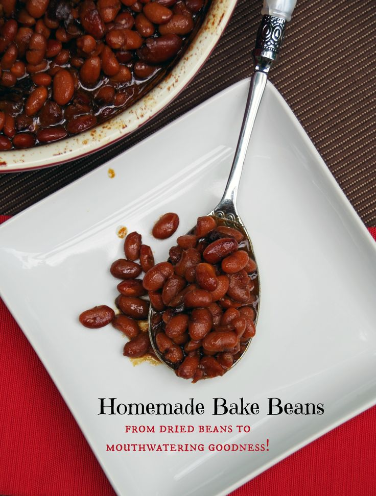 Home made baked bean recipe.  Baked beans should never come from a can!  This recipe will take you from dried bean to delicious baked beans.  Perfect for your next summer BBQ!