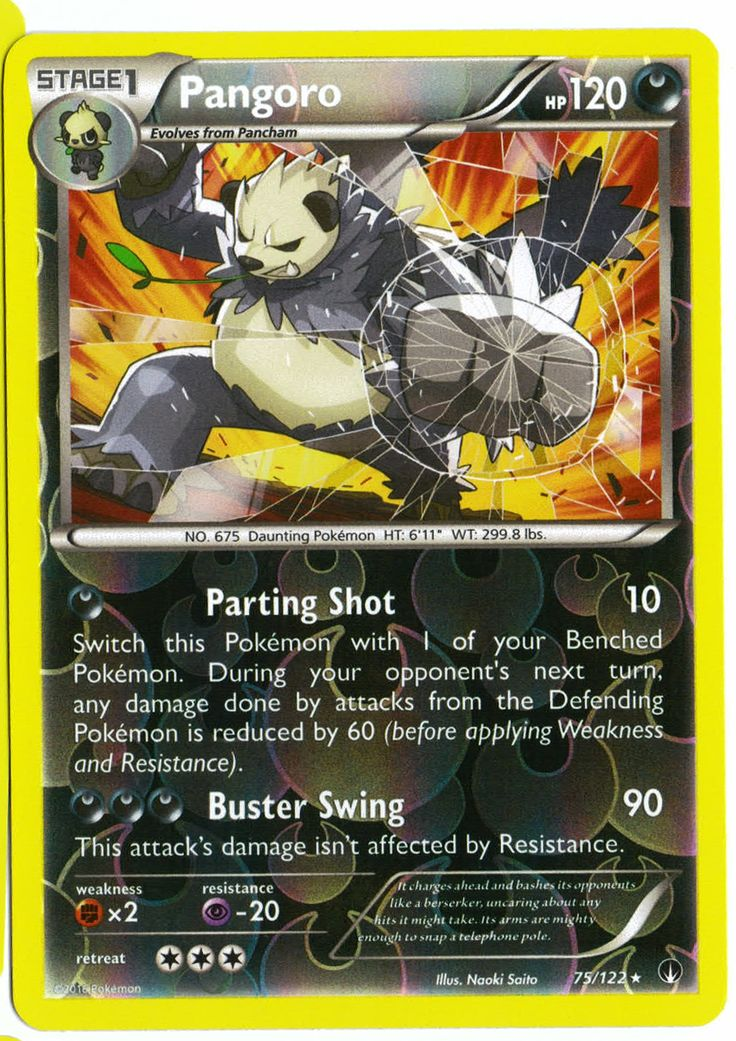 Rare Pangoro reverse holographic card, in near mint condition! Comes with a soft plastic protective cover. Ships with tracking. Cards weigh almost nothing - buy lots and pay just $2.60 shipping to the