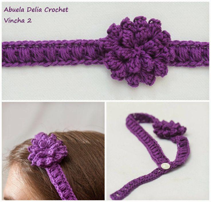 Vinchas para el cabello en Crochet
