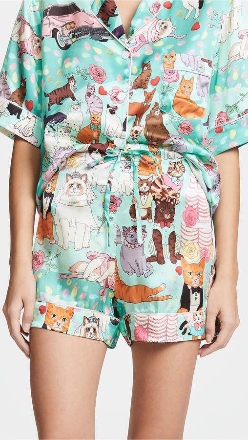 d6f56f7f9ae Karen Mabon Cat Wedding Shorts PJ Set #Cat#Mabon#Karen | Bedtime ...