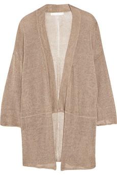 Kain // Bea open-knit linen-blend kimono  cardigan
