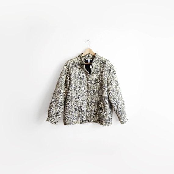 Vintage 80s Silk Leopard Print Hot Granny Jacket