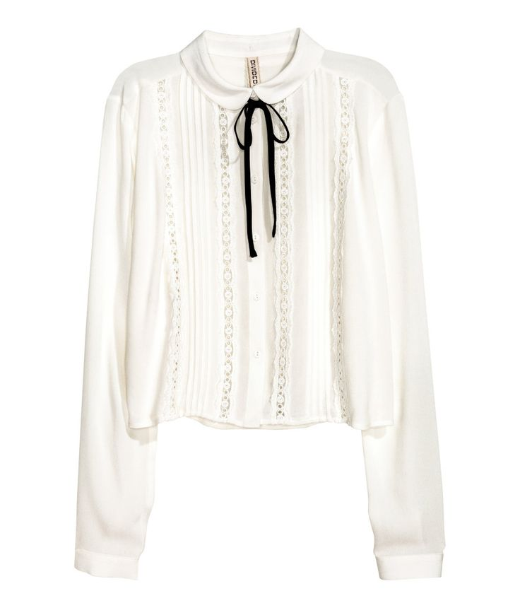 Blouse with Pin-tucks | H&M Divided