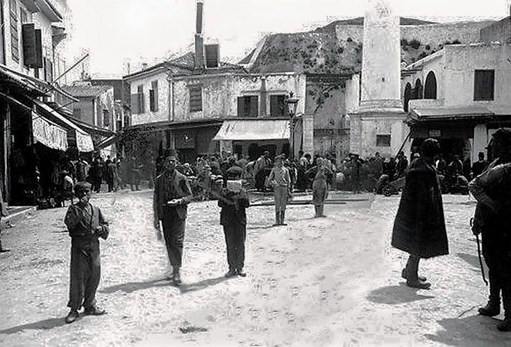 οδός Μουσούρων πριν το χτίσιμο της Δημοτικής Αγοράς.