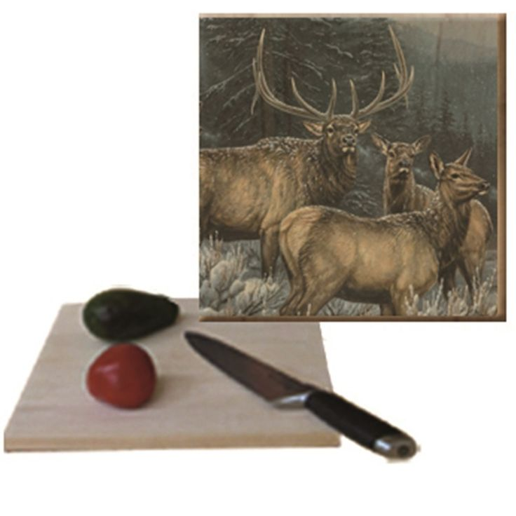Elk Cutting Board | Broken Silence | Wood Graphixs
