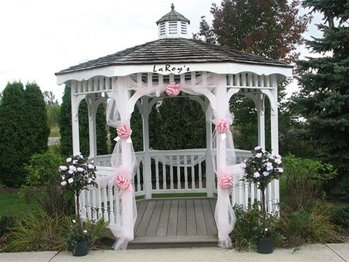 How To Decorate Your Outdoor Wedding: 25+ Best Ideas About Gazebo Wedding Decorations On