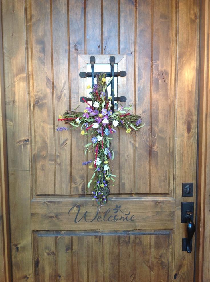 Easter Cross For Your Front Door Easter Cross Wreath