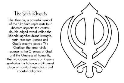 hindu hand symbol khanda sikhism tattoos pinterest
