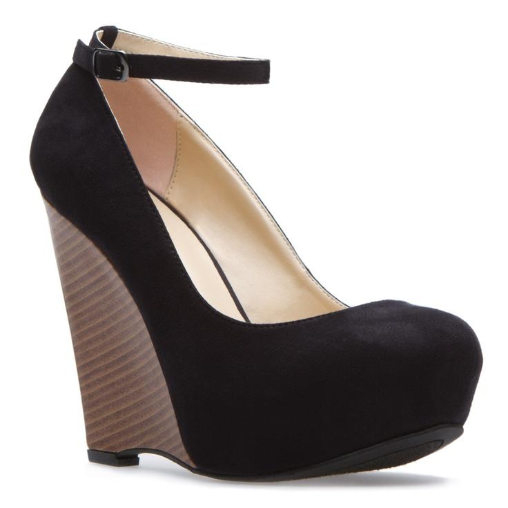 :)Black Style, Shoes Dazzle, Wedges Heels, Black Wedges Shoes, Beautiful, Black Shoes, Black Heels, Shoedazzle Com, New Shoes