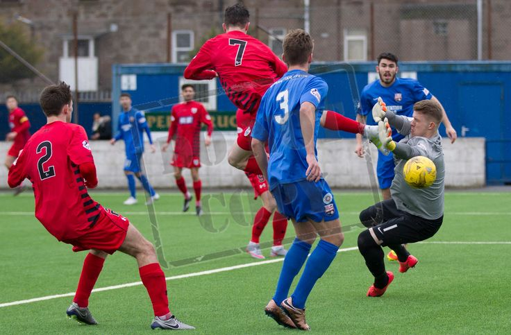 Queen's Park's David Galt gets a shot in during the SPFL League Two game between Montrose and Queen's Park.