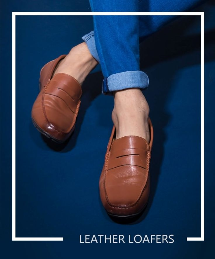 Genuine Leather Loafers for men's . Buy Online hats off accessories leather loafers.
