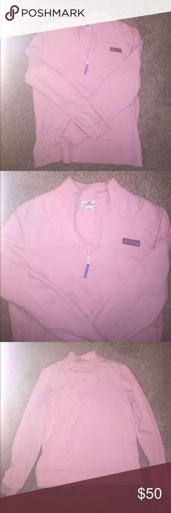 Vineyard Vines Pullover Worn a few times but no signs of wear, too small now, size M, light pink pullover! Vineyard Vines Jackets & Coats