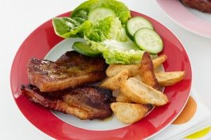 Sticky pork spare ribs