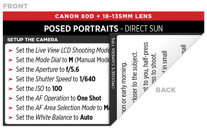 Canon EOS 80D Cheat Sheet | Best Settings for the Canon 80D