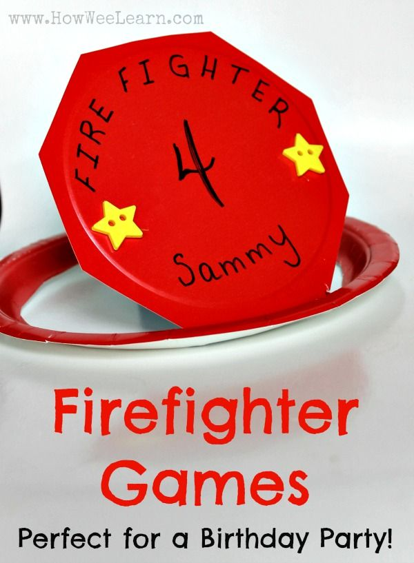 Looking for kids birthday party ideas?  What about a firefighter theme?!  These firefighter games and activities are simple and make for a fantastic preschoolers or Kindergarteners birthday party!  www.HowWeeLearn.com