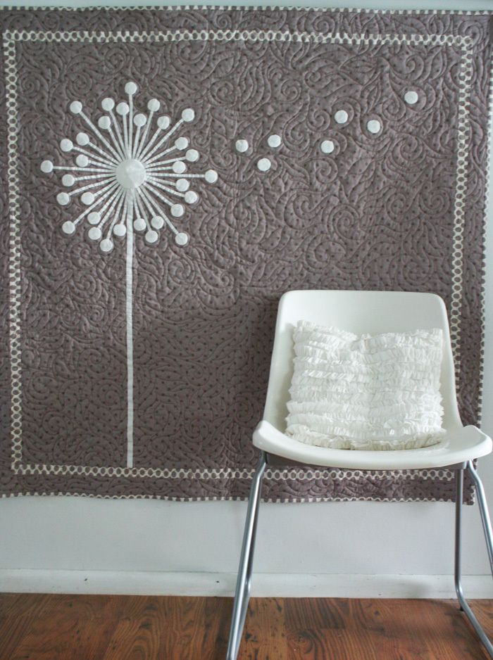 Oh how I wish I knew how to quilt. I love this dandelion pattern!