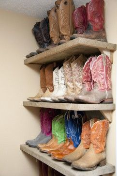 now i am gonna have to have one of these! basically a boot closet lol